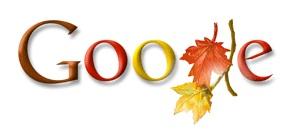 Google Autumn Doodle, in Danish